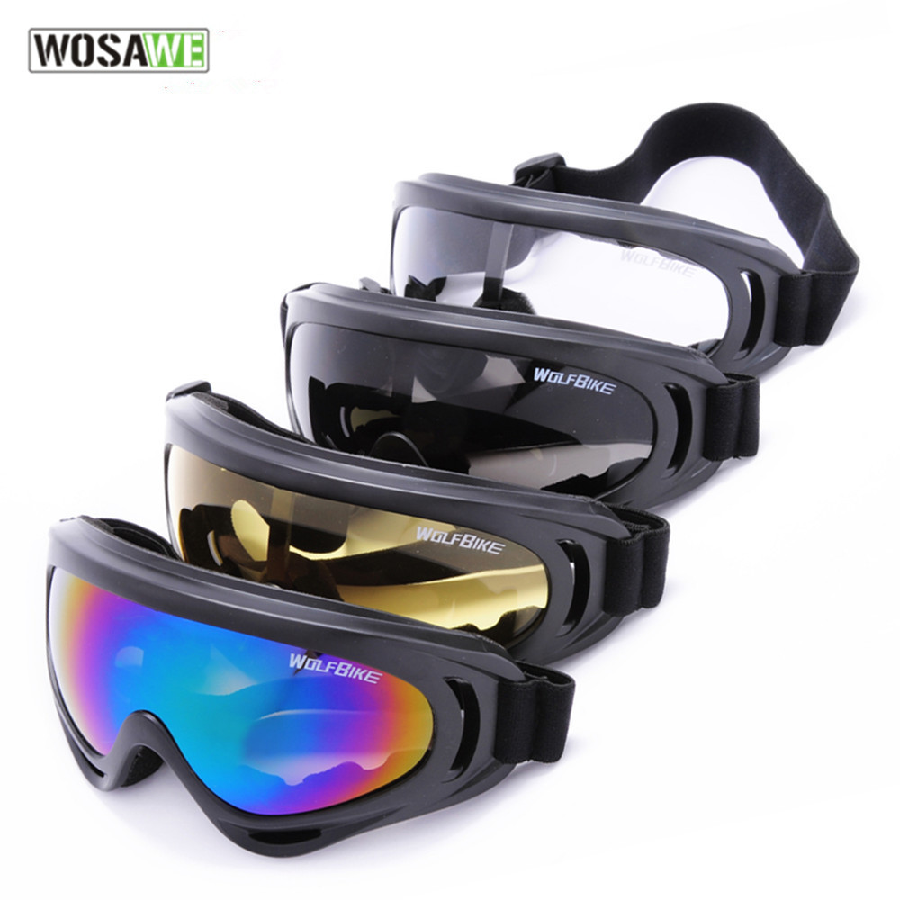 WOSAWE Outdoor Ski Snowboard Airsoft Paintball Protective Glasses Motocross Off-Road Mot ...