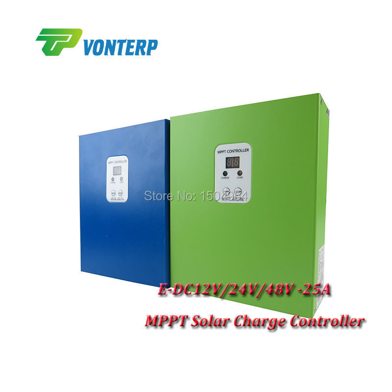 MPPT solar charge controller / MPPT regulator / MPPT solar regulator 12/24V/48v 25A ce rohs solar charge controller 60a mppt 12v 24v 48v automatic recognition solar charge controller