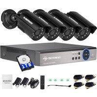 Mejor DEFEWAY 8 canales 1080N DVR 1200TVL 720 P HD sistema de cámara de seguridad al aire libre 1 TB Disco Duro 8CH HDMI CCTV juego de Cámara AHD DVR