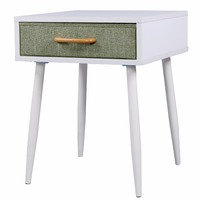 Lifewit Nightstand End Table Sofa Table With Drawer White