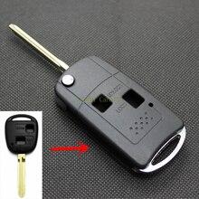 ШИШКА для TOYOTA PRADO LAND CRUISER Ключ Чехол 2 Кнопки Uncut пустой Купер Лезвие Тип 2 Изменение Удаленного Ключи ABS Оболочки 1 Шт.