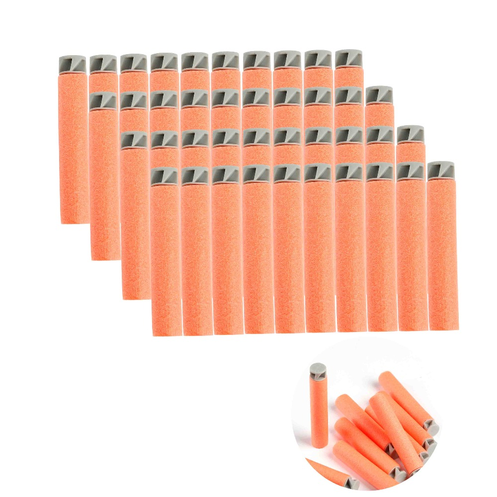 20pcs Soft Bullet Flat Soft Head Foam Bullets For Nerf N-strike Elite Series Orange Hot Sale