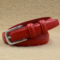 Fashion Glisten Candy Color Leather Belt Women's Pigskin Leather Belts Woman Waistband Female Straps Luxury Design Cummerbund