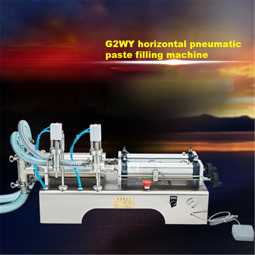 New G2WY Horizontal Pneumatic Paste Filling Machine Two head Automatic Filling Machine 110V/220V 500W 5 100ml/10 200ml/30 500ml|Power Tool Sets|   - title=