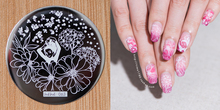 New Nail ART Stamping Plate 2018 Flower Lace Transfer Stamp DIY Art Polish Template ##hehe63 1 PCS Decoration