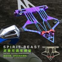 SPIRIT BEAST License Plate Holder Motorcycle Bracket Frame for Suzuki Ltz 400 Pulsar 200 Ns Vespa Gts Cb190r Cb1000r Nmax Z650