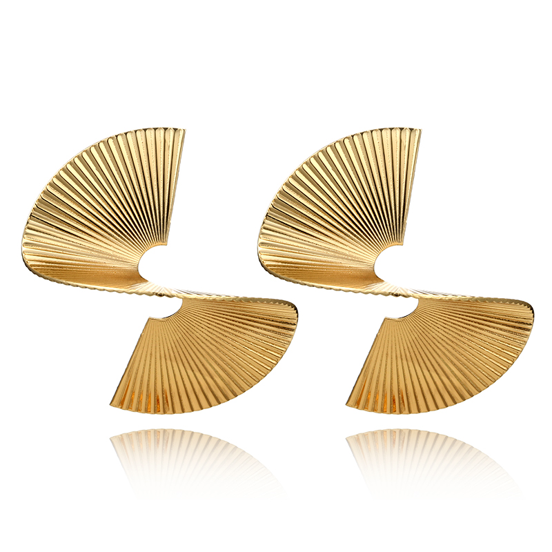 Tocona Punk Twisted Metal Drop Dangle Earrings Geometric Spiral Gold Silver Alloy Earring for Women Jewelry Pendientes 5133