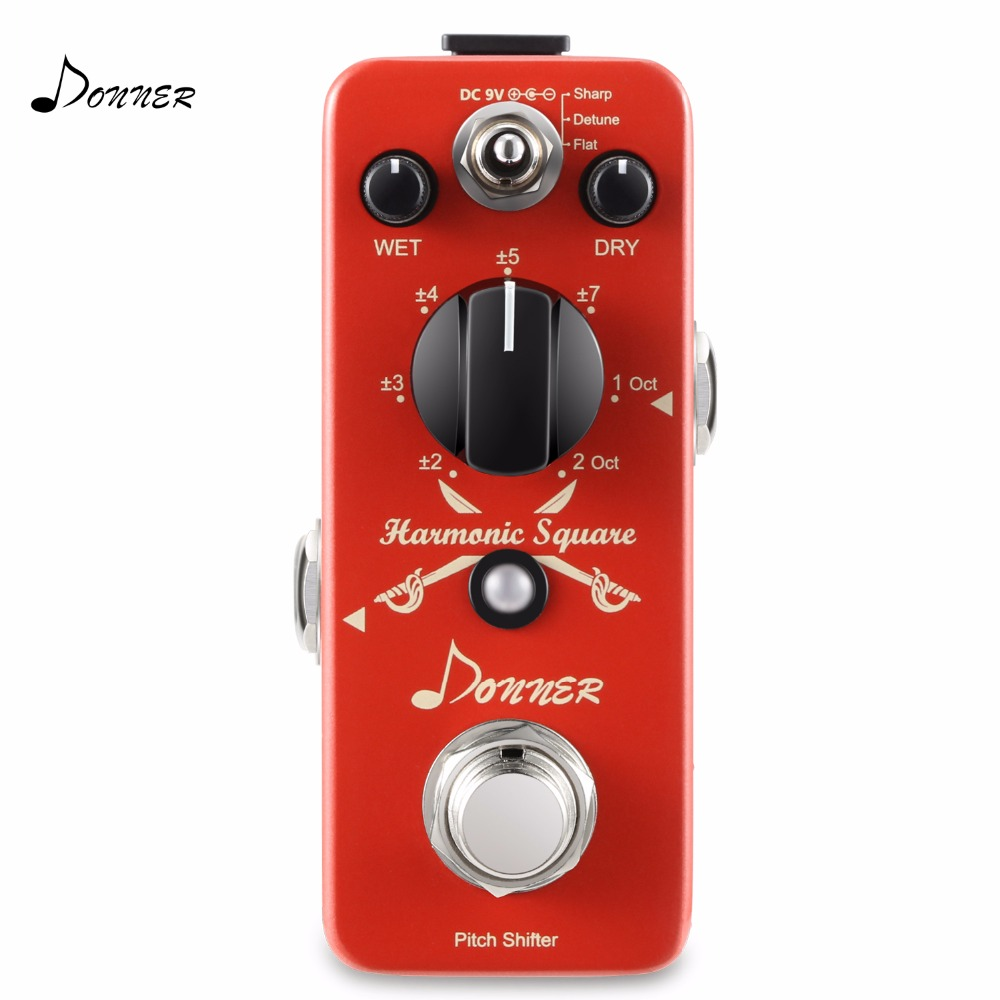 Donner Digital Octave Guitar Effect Pedal Harmonic Square 7 modes donner guitar effect pedal incredible v mini preamp