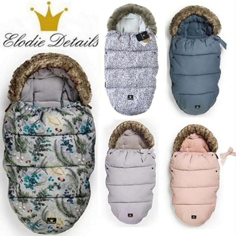 ELODIE DETAILS Baby stroller sleeping bag Winter Warm Sleepsacks Robe For Infant wheelchair envelopes for newborns