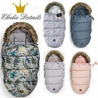 ELODIE DETAILS Baby stroller sleeping bag Winter Warm Sleepsacks Robe For Infant wheelchair envelopes for newborns footmuff