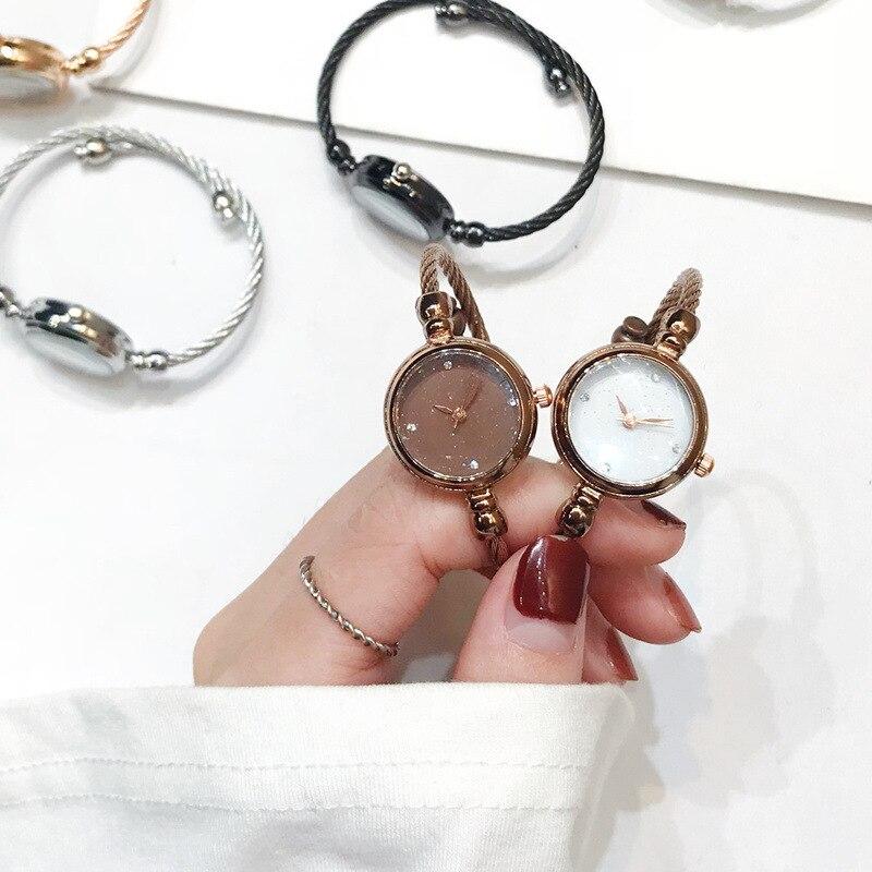 Bracelet de luxe ciel étoilé montres femmes mode brillant diamant élégant dames Bracelet montres Femme Quartz Montre Femme