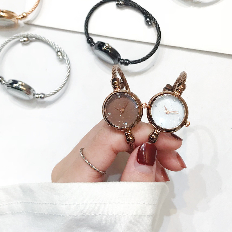 Luxury Starry Sky Bracelet Watches Women Fashion Shine Diamond Elegant Ladies Bangle Wristwatches Female Quartz Montre Femme