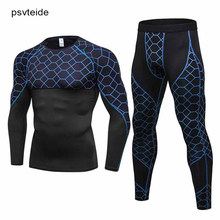 Sweat Suit Garment bodybuilding Suits Running sets Fitness Yoga Sets Compression Rashguard Athlet Tracksuits Sport Set for Men(China)