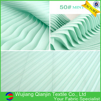 Factory Wholesale Fashionable Polyester Pleated Pearl Chiffon Fabric