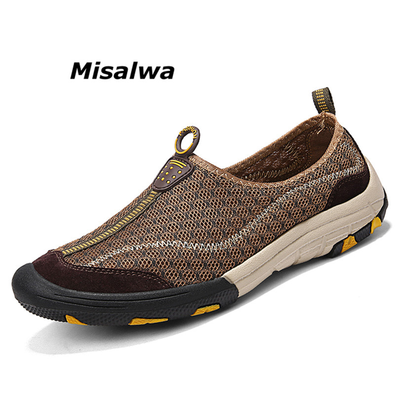 1775dd9fe57901 Misalwa Outdoor Summer Camp Soft Men Shoes Light Comfortable Quick Drying Mesh  Male Loafers Anti skid Luxury Casual Men Flats-in Men's Casual Shoes from  ...