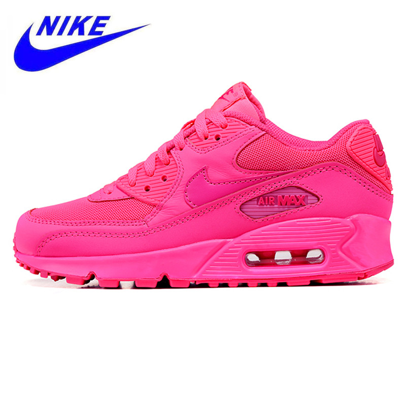 sports shoes 6606f 4d836 Nike Air Max 90 Women s Breathable Running Shoes, Sport Sneakers Shoes  Original Women 345017 601-in Running Shoes from Sports   Entertainment on  ...