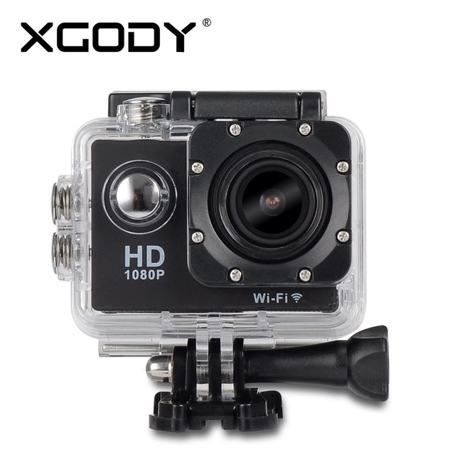 XGODY W8 Wireless WiFi 12MP HD 1080P Car Helmet Cam Sports DV Action Waterproof Camera