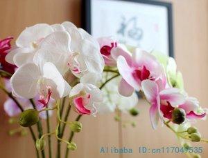 Image 3 - 1 tallo flor Artificial de seda, polilla, orquídea, mariposa, orquídea para casa nueva, decoración de fiestas de bodas en casa, 6 tipos, 12 colores, F152