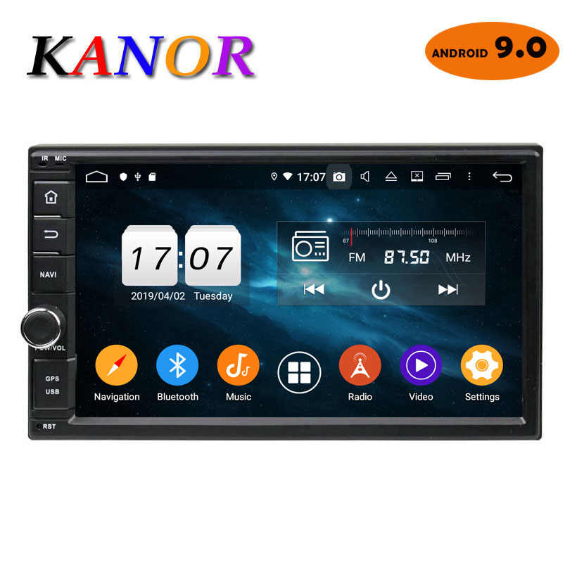 KANOR Android 9.0 Octa rdzeń 7 cal 4 + 32g pokój 2 din Radio samochodowe z DSP Bluetooth Stereo satNav WIFI Multimedia SWC mapa radioodtwarzacza radio samochodowe