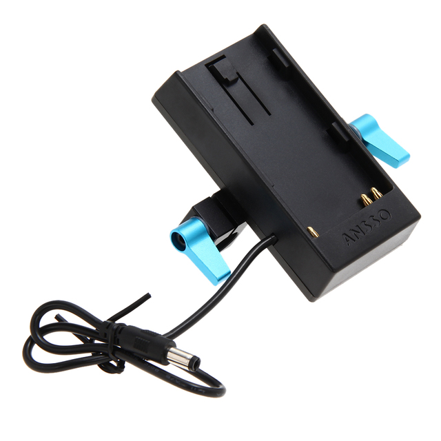 BMPCC BMCC Camera Battery Mount Power Plate Power Supply Charger Adapter for Sony BP-U60/30 Rod Clamp