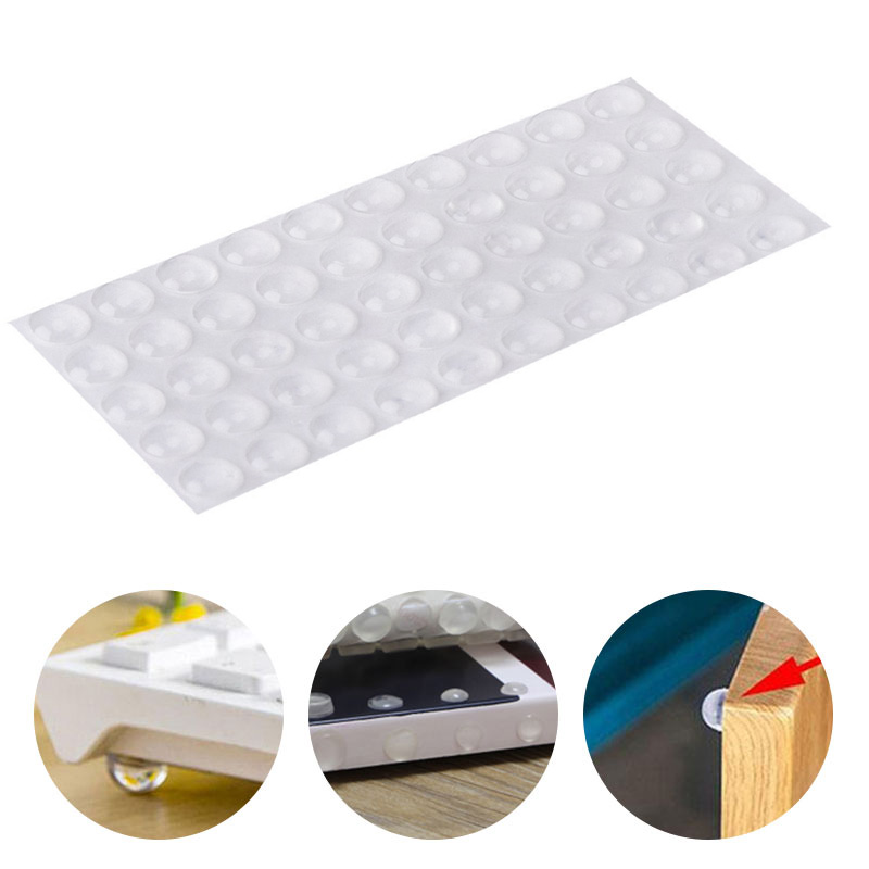 Hemispherical Shape 50pcs Transparent Shock Absorber Rubber Feet Pads Drawer Door Durable Stop Cushion Self Adhesive Anti Slip