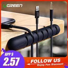 Ugreen Cable Organizer Silicone USB Cable Winder Flexible Cable Management Clips Cable Holder For Mouse Headphone Earphone(China)