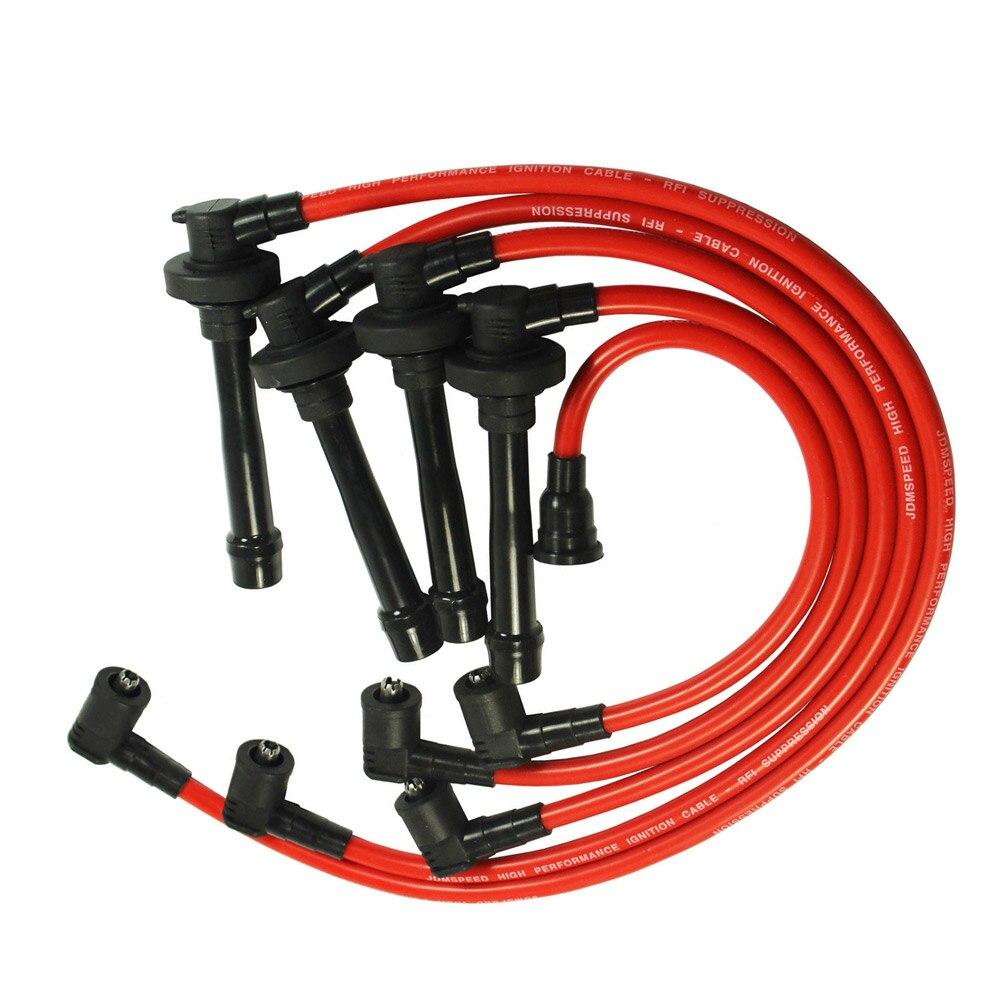 1Pc Spark Plug Ignition Wire Set For 92-02 Honda Accord Civic Del Sol Spiral Core CSL2017