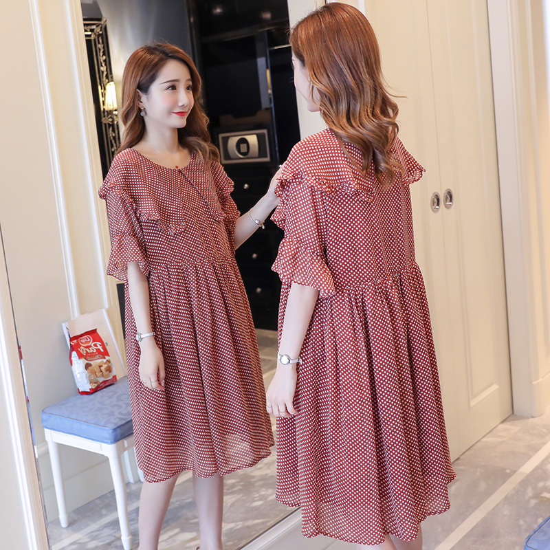 Maternity Clothes Solid Active Patchwork Pregnancy Dress Fashion Pregnancy Clothing Of Pregnant Women Chiffon Vestidos