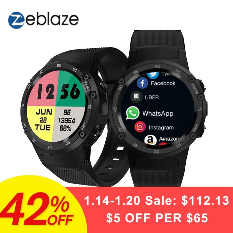 Zeblaze Thor 4 4G S LTE GPS WiFi Android Montre Smart Watch Flapship 1 GB + 16 GB 5MP Caméra fitness Tracker Smartwatch Montre-Bracelet