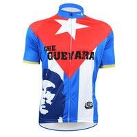 צ 'ה גווארה רוכסן מלא אופני ג' רזי הרכיבה שרוול קצר גברים חולצה כחול/לבן/אדום רכיבה על אופניים clothing מספר 50 גודל xs-5xl