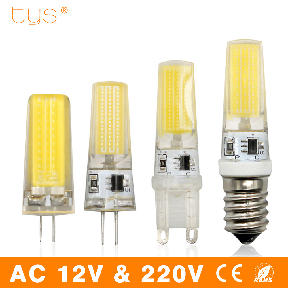 Lampada LED Lamp G9 G4 E14 220V 3W 6W 9W Dimmable Bombillas LED Bulb G4 AC DC 12V COB Light Replace Halogen Spotlight Chandelier hotook 12v car led bulb dimmable g4 g9 e11 e12 e14 e17 gy6 35 t10 ba15d ampoule 24v 110v 220v 60w equivalent boat lamp 2pcs