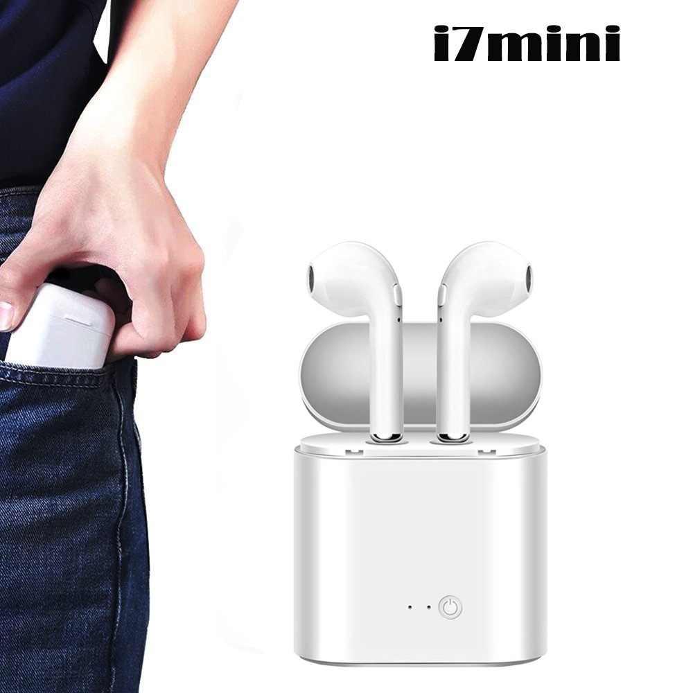 I7 mini i7s TWS سماعة لاسلكية تعمل بالبلوتوث سماعات الأذن سماعات الأذن آيفون 7 8 X ل شاومي Redmi 5 6 A سامسونج S8 S9 نوت 7 8 9
