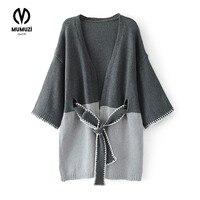 New 2017 Autumn Winter Fashion Women Half Sleeve Loose Knitting Cardigan Sweater Womens Knitted Female Cardigan