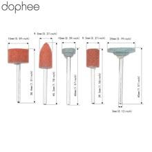 Dophee Dremel אביזרי 3mm Shank גריסה גלגל ראש עבור DIY טחינה/ליטוש עץ/נפשי/עובש חשמלי מיני מטחנות 5PCS