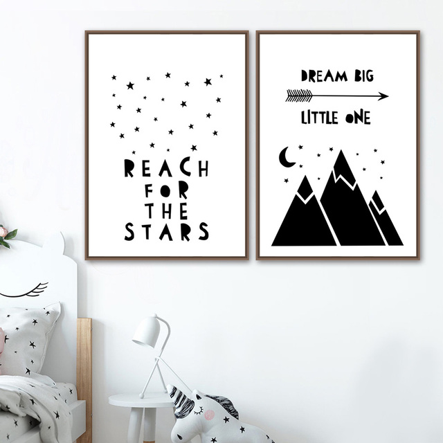 Under the Stars – Wall Art Canvas for Kids Room
