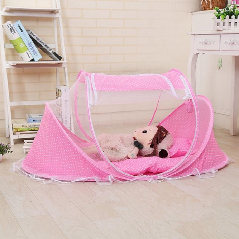 Forró hordozható baba gyerek ágy dekoráció szúnyogháló - Lakástextil