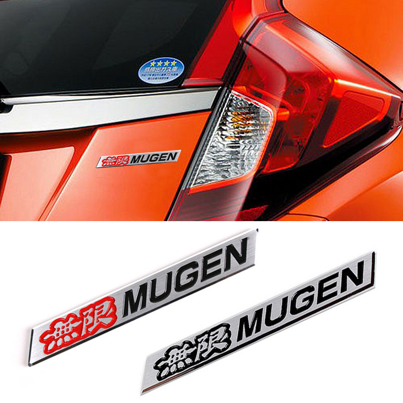3D Car Trunk Emblem Badge Sticker Decal MUGEN for HONDA CIVIC ACURA Black x2