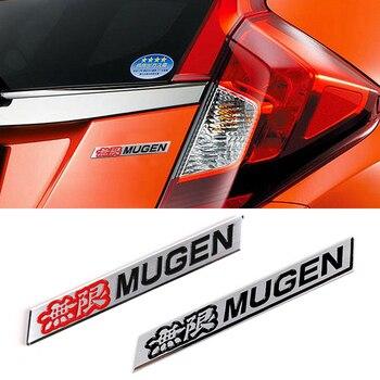 цена на free shiping 3D Mugen Power Logo Car Sticker Emblem Rear Badge Aluminum Chrome Decal Car Styling For Honda Civic Accord CRV fit