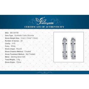 Image 5 - Jewelrypalace Cz Clip Oorbellen 925 Sterling Zilveren Oorbellen Voor Vrouwen Kanaal Eternity Koreaanse Oorbellen Fashion Sieraden 2020