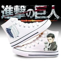 High Q Unisex Anime Cos Attack On Titan Eren Mikasa Ackerman Armin Arlert Casual plimsolls Canvas Shoes rope soled shoes