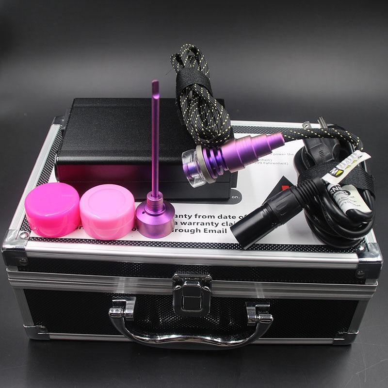 Clou noir ENail Dab Kit clou électrique Dab avec bobine de couleur rose clou titane capuchon de carbu vs clou à Quartz