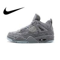 Nike Air Jordan 4 Ретро Kaws AJ4 Для мужчин Мужская Баскетбольная обувь спортивные кроссовки спортивные Дизайнерская обувь 2018 новые беговые 930155 003