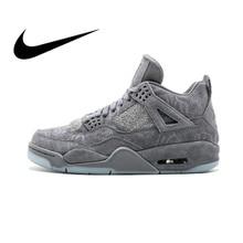 promo code 6607a 4209f Nike Air Jordan 4 Retro Kaws AJ4 Men s Basketball Shoes Sport Sneakers  Athletic Designer Footwear 2018