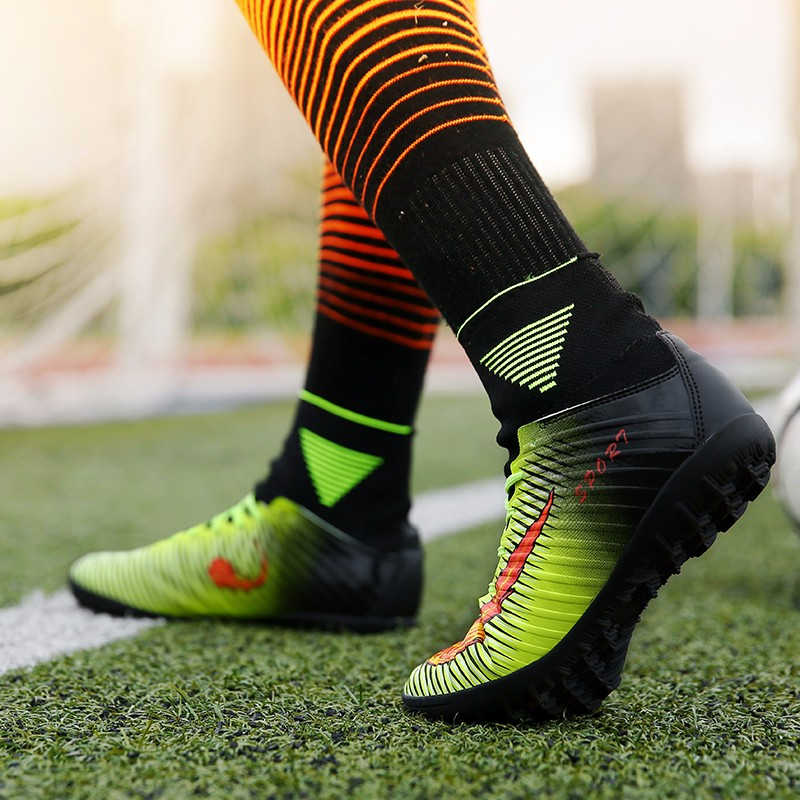 2017 High Quality Cheap Indoor Soccer Shoes Cleats High Ankle Kids Football Boots Superfly Original Boys Girls Sneakers15
