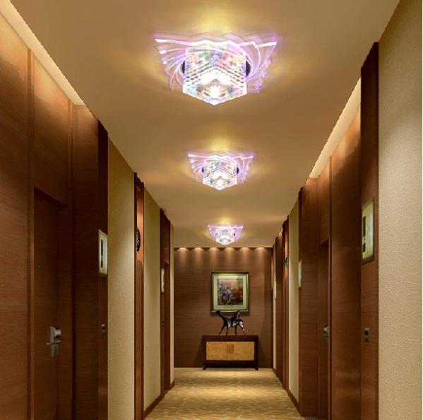 Colorpai Neue 2017 5 Watt Decke Kronleuchter Lampen Kristall Lila Licht Deckenleuchte Schlafzimmer Lampe Wohnzimmer AC200