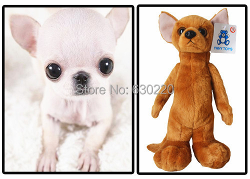 Free Shipping Kawaii Big Eye Puppy Chihuahua Dog Plush Toy 25cm