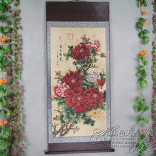 China Antique collection Calligraphy and painting Peony diagram