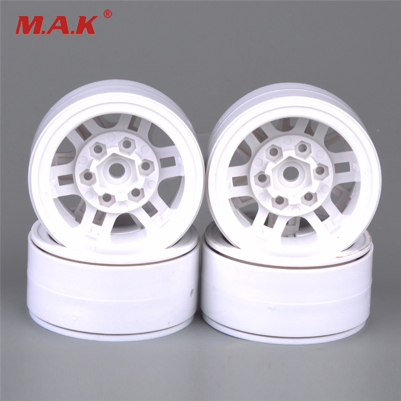 4 PCS/set White Color 1/10 Aluminum Wheel Hub AX-616WH RC Car Model Toy Accessorie For Climbing Car Remote Control Toy Car