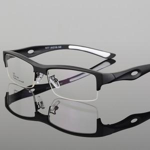 Image 4 - BCLEAR مشهد إطار جذاب رجالي تصميم مميز ماركة مريحة TR90 نصف إطار مربع نظارات رياضية إطار نظارات