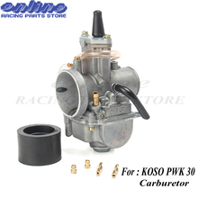 30mm Carb for koso pwk30 carburetor Carburador with power jet fit on 2T/4T engine racing motorcycle цена